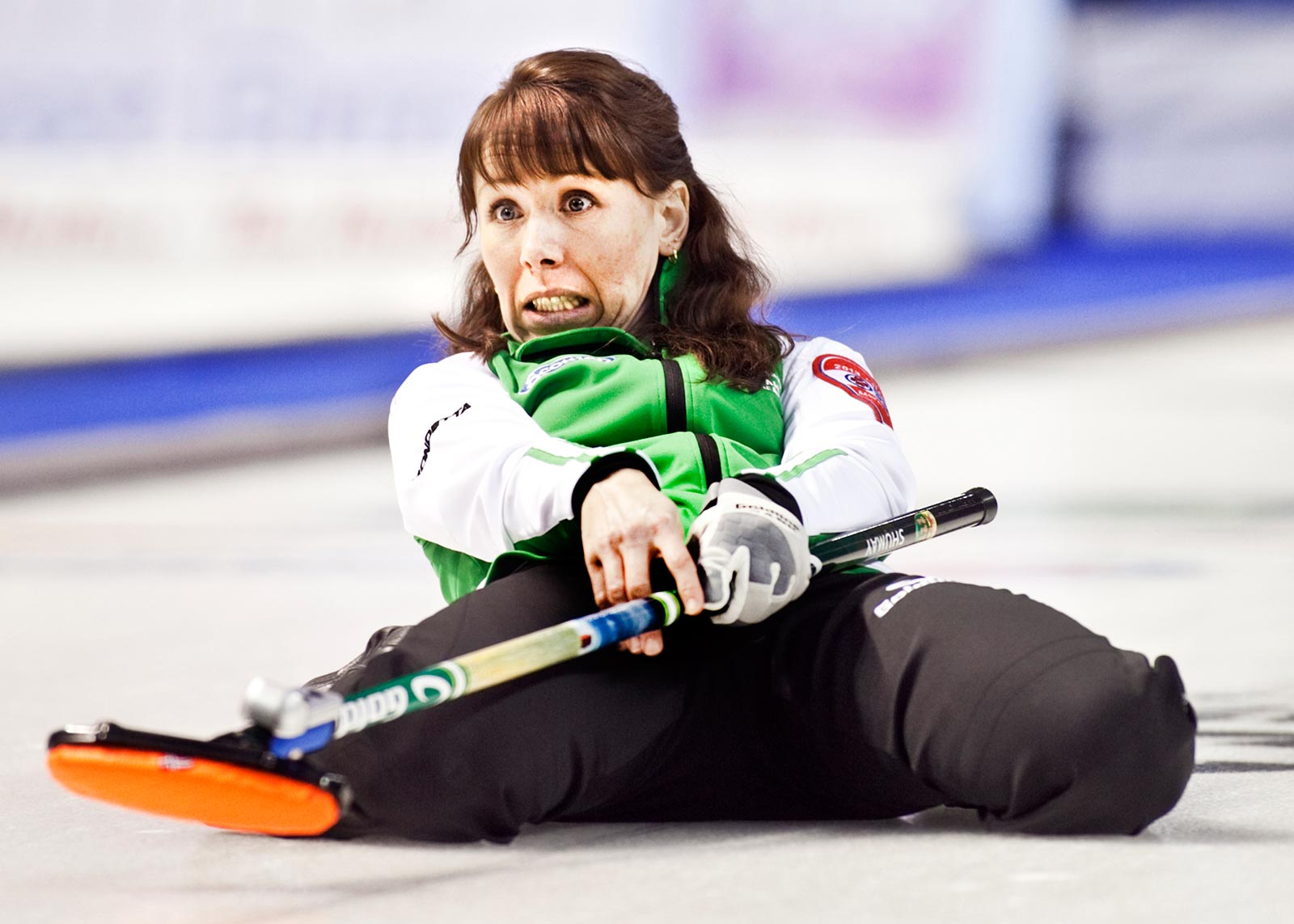 The energetic, Team Saskatchewan skip, Jill Shumay